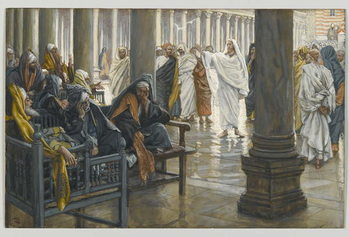 Woe unto You, Scribes and Pharisees, illustration from 'The Life of Our Lord Jesus Christ', 1886-94 Canvas Print