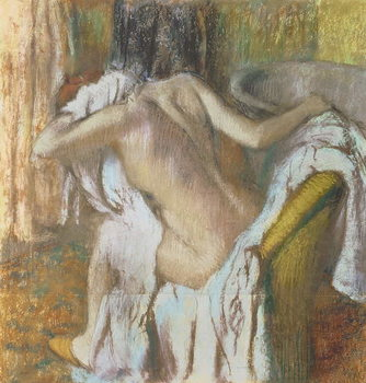 Woman drying herself, c.1888-92 Canvas Print