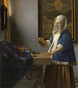 Woman Holding a Balance, c.1664 Canvas Print