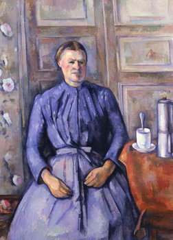 Woman with a Coffee Pot, c.1890-95 Canvas Print
