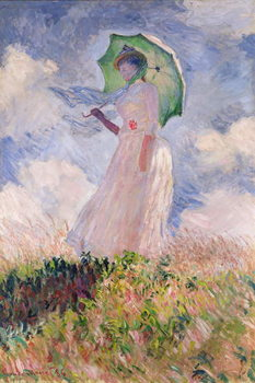Canvas Print Woman with Parasol turned to the Left, 1886