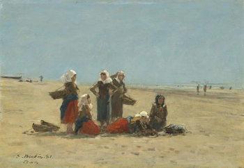 Women on the Beach at Berck, 1881 Canvas Print