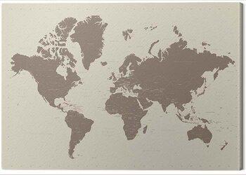Canvas Print World Map - Contemporary Stone