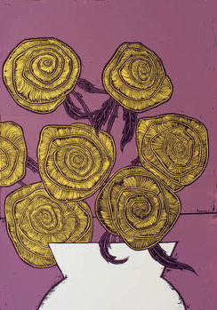 Yellow Roses, 2016, Canvas Print