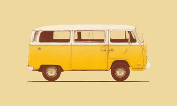 Yellow Van Canvas Print