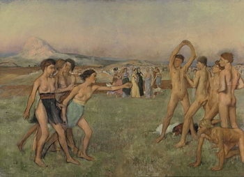 Young Spartans Exercising, c.1860 Canvas Print