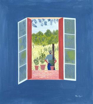 Zaid Through the Window, 1986 Canvas Print