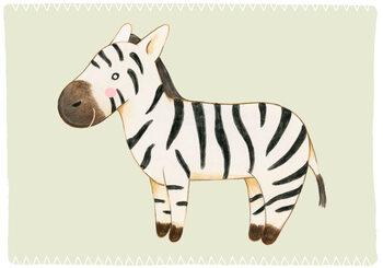 Canvas Print Zebra