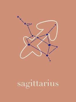Canvas Print Zodiac - Sagittarius - Terracotta
