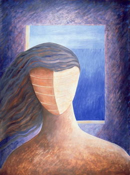 Zoe a la Fenetre, 1994 Canvas Print