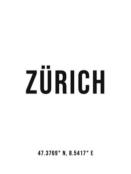 Canvas Print Zürich simple coordinates