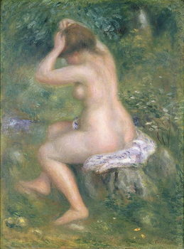 A Bather, c.1885-90 Canvas Print