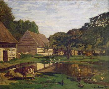 A Farmyard in Normandy, c.1863 Canvas Print