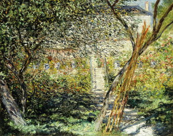A Garden in Vetheuil; Le Jardin de Vetheuil, 1881 Canvas Print