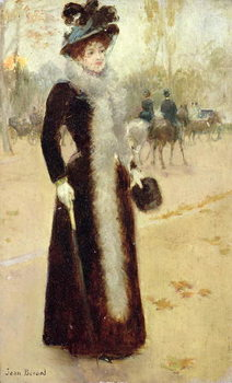 A Parisian Woman in the Bois de Boulogne, c.1899 Canvas Print