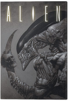 Alien - Head on Tail Canvas Print
