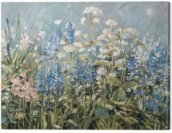 Anne-Marie Butlin - Blue Summer Border Canvas Print