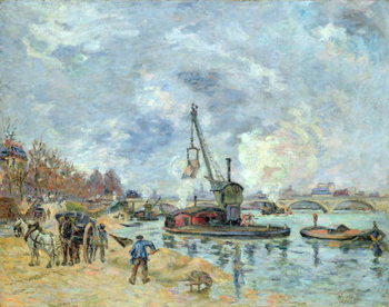 At the Quay de Bercy in Paris, 1874 Canvas Print