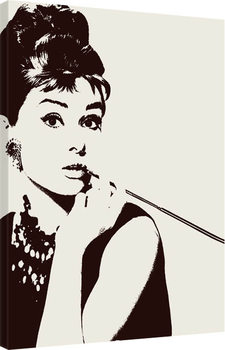 Audrey Hepburn - Cigarello Canvas Print