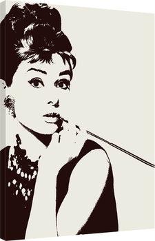 Audrey Hepburn - Cigarello Canvas Print