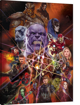Avengers Infinity War - Gauntlet Character Collage Canvas Print