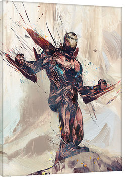 Avengers Infinity War - Iron Man Sketch Canvas Print