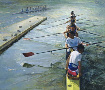 Away from the Raft, Henley Canvas Print