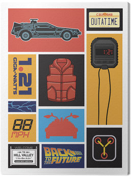 Back to the Future - Collection Canvas Print