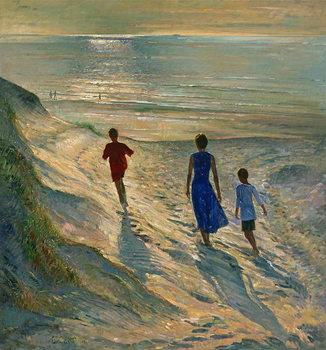 Beach Walk, 1994 Canvas Print