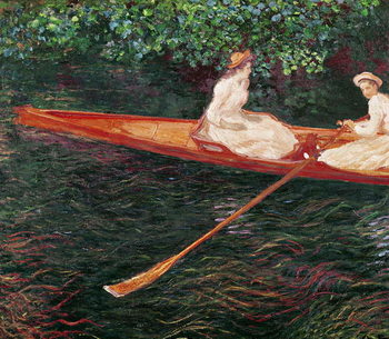 Boating on the river Epte, c.1889-1890 Canvas Print