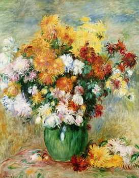 Obraz na plátně Bouquet of Chrysanthemums, c.1884