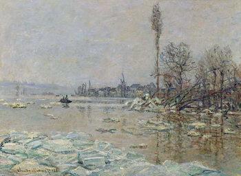 Breakup of Ice, 1880 Canvas Print
