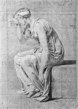 Camilla, study for 'The Oath of the Horatii', c.1785 Canvas Print