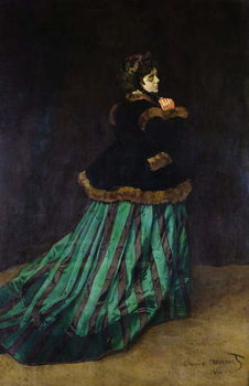 Camille, or The Woman in the Green Dress, 1866 Canvas Print