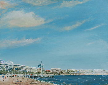 Cannes Sea Front, 2014, Canvas Print