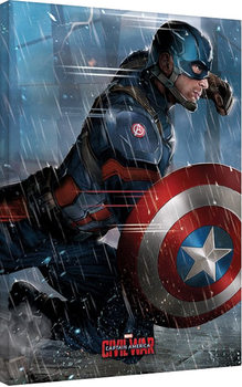 Captain America Civil War - Captain America Canvas Print