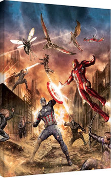 Captain America Civil War - Group Fight Canvas Print