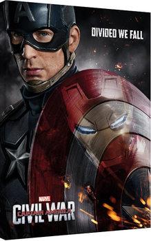 Captain America Civil War -Reflection Canvas Print