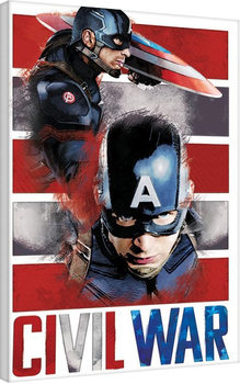 Captain America Civil War - Split Canvas Print