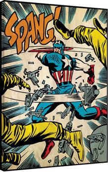 Captain America - Spang Canvas Print