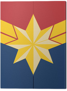Captain Marvel - Emblem Canvas Print
