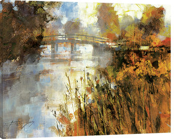 Chris Forsey - Bridge at Autumn Morning Canvas Print