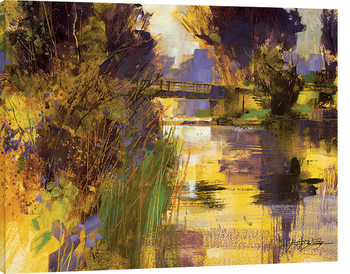 Chris Forsey - Bridge & Glowing Light Canvas Print