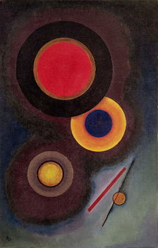 Composition with Circles and Lines, 1926 Canvas Print