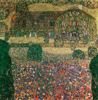 Country House by the Attersee, c.1914 Canvas Print