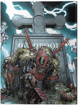Deadpool - Grave Canvas Print