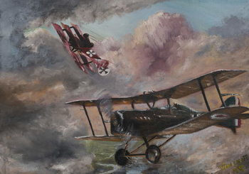 Dogfight 1917, 1995, Canvas Print