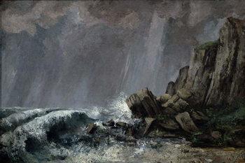 Downpour at Etretat Canvas Print
