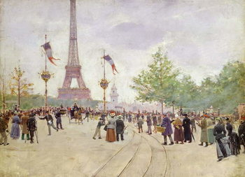 Entrance to the Exposition Universelle, 1889 Canvas Print