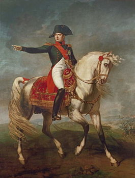 Equestrian Portrait of Napoleon I (1769-1821) 1810 Canvas Print